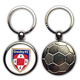 Football Metal Key Ring